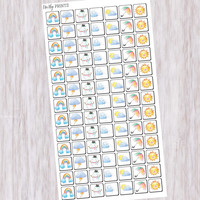 Weather Stickers, Planner Stickers, Kawaii Stickers, Cloud Stickers, Sun Stickers, Rain Stickers, Cute Stickers (#0205)