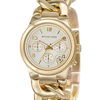 Michael Kors Watch, Women's Chronograph Runway Twist Gold-Tone Ion-Plated Stainless Steel Bracelet 38mm MK3131