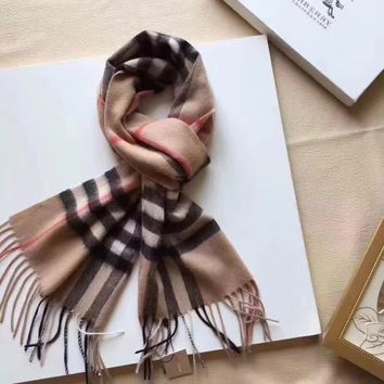 One-nice™ Authentic Burberry Exploded Large Check Cashmere Scarf@MM