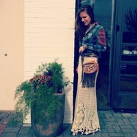 Artisan De Luxe  Hi Low Patched Plaid Shirt at Free People Clothing Boutique