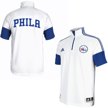 Philadelphia 76ers adidas On-Court Game Time Shooting Shirt – White