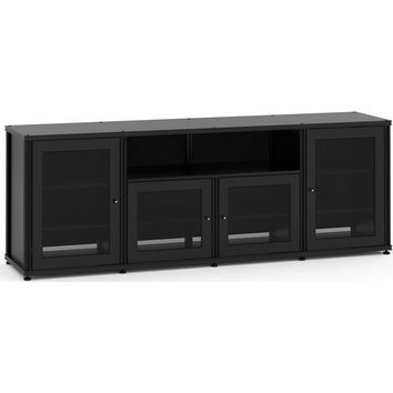Synergy 87 Inch TV Stand (Tall) Cabinet 4 Finishes - Black Cherry Maple Walnut