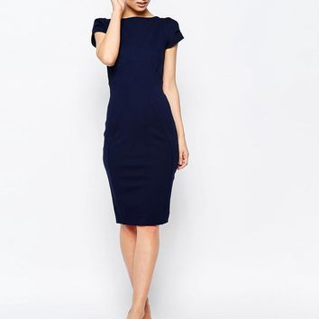 Closet Curve Seam Pencil Dress at asos.com