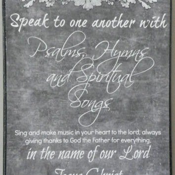 Ephesians 51920 Bible Verse Chalkboard Like Print by KyMadeCrafts