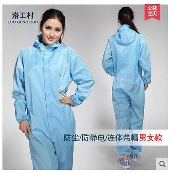 Jumpsuit Antistatic clothing garment of clean room Spray painting work clothes Clean clothes
