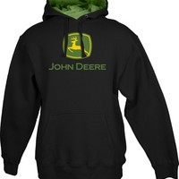 Adult John Deere Black and Green Hoodie | RunGreen.com