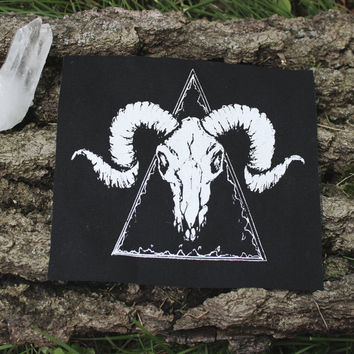 Ram Skull MINI patch