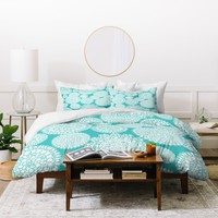 Heather Dutton Delightful Doilies Tiffany Duvet Cover