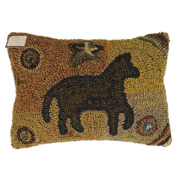"Twilight 12""x16"" Hooked Wool Pillow"