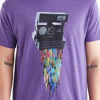 Design By Humans Pixel Shot Tee- Purple