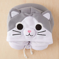 Cat Hood Neck Pillow - Urban Outfitters