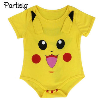 Baby Rompers Short Sleeve Cotton Pokemon Romper For Baby Boy And Girl Pokemon Jumpsuit Clothing Summer Clothes