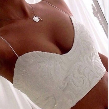 The new V-neck sling sexy lace T-shirt ebay AliExpress Women's 2015 summer = 1753786820