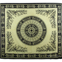 Black Elephant Mandala Indian Tapestry Throw Wall Hanging Room Bedspread Decor