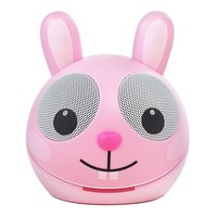 ZooTunes by Impecca Pink Rabbit Portable Speaker