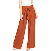 Canyon Pleat Wide-Leg Pants
