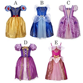 Baby Girl Princess Party Dresses Kids Girl Snow White Cinderella Sleeping Beauty Clothing Sofia Rapunzel Cosplay Costume Vestido