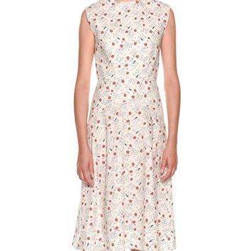 Marni Sleeveless Poppy-Print Dress