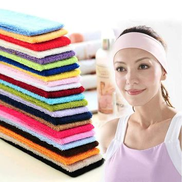 Fashion Women Headband Headwear Candy Color Hair Ribbon 7CM Popular Summer Absorb Sweat Yoga Sports Styling Accessory