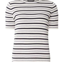 Navy and Grey Stripe Tee - View All New In - New In