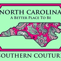 North Carolina Paisley - Mint Green