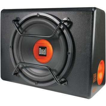 "Dual 12"" Amplified Subwoofer In Tuned Ported Enclosure"