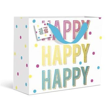 Happy Happy Happy Dots Small Gift Bag