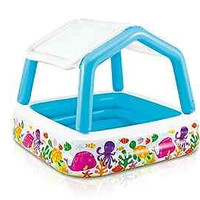 """Inflatable Pool Sun Shade 62"""" X 62"""" X 48"""" for Ages 2+ Small Kid Swim Fun New"""
