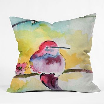 Ginette Fine Art Humminbird Outdoor Throw Pillow