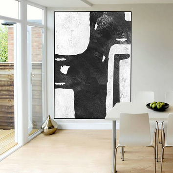 extra large art, original Acrylic painting, black and white wall art painting,  canvas art,  art for big wall, modern Contemporary Painting