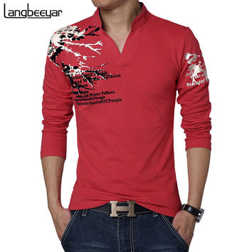 Fashion Long Sleeve Trend Print T Shirt