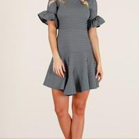 Morning Mood dress in black print Produced By SHOWPO