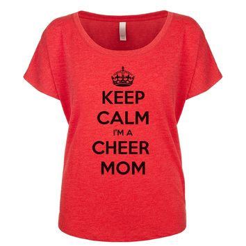 Keep Calm I'm A Cheer Mom  Women's Dolman