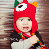 toddler boy hat crochet monster hat 12 by stitchesbystephann