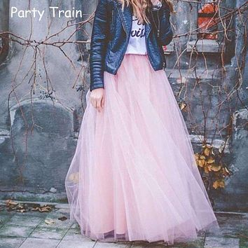 Women's Long Tulle Skirt