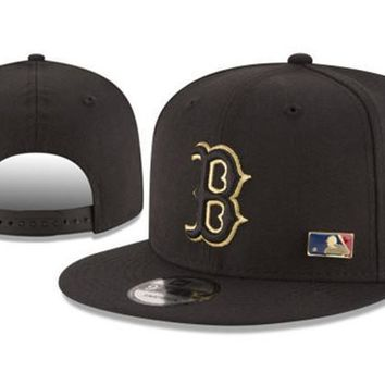 New Arrival New Era Black Cap MLB Baseball Fitted Hat-11
