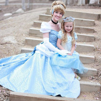 Cinderella New 2012 Park Style Swirl Gown with White Sleeves Dress Custom Made