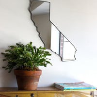 California Mirror / Wall Mirror State Outline Silhouette San Francisco CA Wall Art Shape Modern Decor