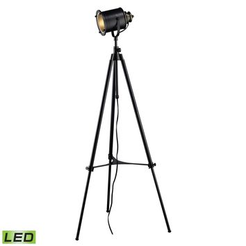 Ethan Adjustable Tripod LED Floor Lamp in Restoration Black Restoration Black