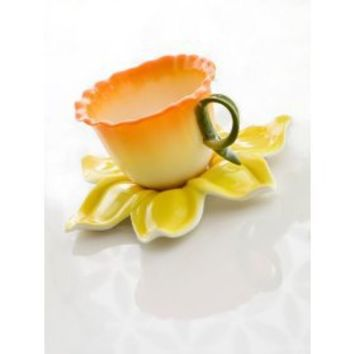 Brandani Tazza Primula Porcellana c/piattino: Amazon.it: Casa e cucina