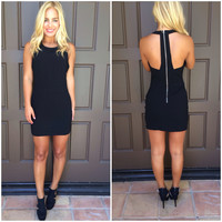 Rumors Cutout Party Dress - BLACK