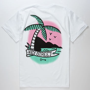 KEY STREET Palm Tree Mens T-Shirt | Graphic Tees