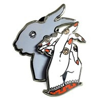 Bunny Shadow Puppet Sliding Moving Pin