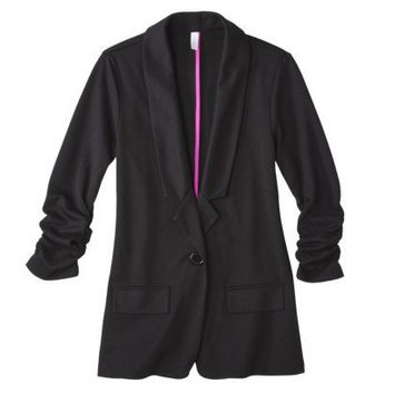 Xhilaration® Juniors Ruched Sleeve Blazer - Assorted Colors