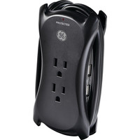 3-Outlet Surge Protector with USB, 1.5ft Cord, 3-outlet/2 USB port surge protector, Ideal for portable USB devices such as smartphones, MP3 players, tablets & more, Perfect for travel