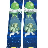 Alien UFO Invasion Socks