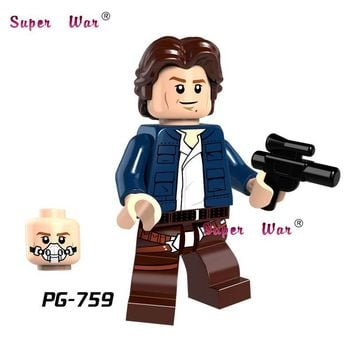 Star Wars Force Episode 1 2 3 4 5 20pcs  Han Solo Jedi Battle of Geonosis Attack of Clones model kits building blocks bricks classic baby toy AT_72_6