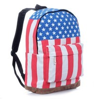 Vintage Hot Canvas USA Flag Punk BackPack Shoulder Bag School Bag
