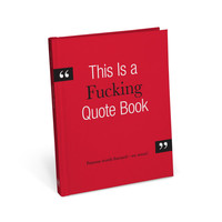 Knock Knock This is a Fucking Quote Book | KnockKnockStuff.com
