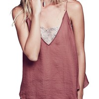 Free People | Lace Inset Plunging Camisole | Nordstrom Rack